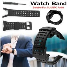 Black Buckle Silicone Watch Band Strap Watch Band for SUUNTO Ambit 1 2 3 2R 2S