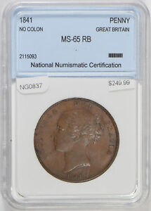 Great Britain 1841 Penny lustrous UNC NG0837 combine