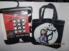 Nightmare Before Christmas Jack Skellington Faces  Bones  Blanket 46 X 60 & TOTE