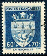 STAMP / TIMBRE FRANCE OBLITERE N° 554 BLASON / LA ROCHELLE