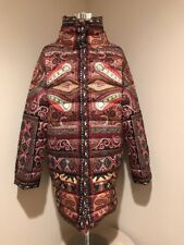 ETRO  PAISLEY PRINT QUILTED PUFFER COAT It 44 US 8-10 NEW