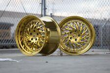 18x9.5 Aodhan DS03 5x100 +35 Gold Vacuum Rims Fits Subaru Vw Scion Toyota