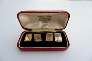 VINTAGE 9CT YELLOW GOLD CUFFLINKS - C1963 SMITH & PEPPER, 5.2 GRAMS, FITTED BOX