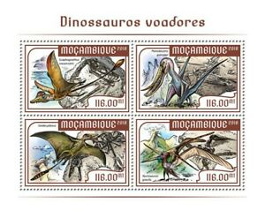 Mozambique Flying Dinosaurs Stamps 2018 MNH Prehistoric Animals 4v M/S
