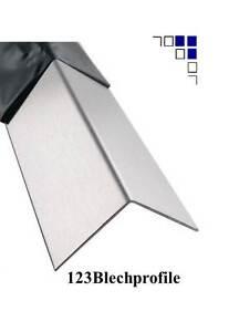 Edelstahlwinkel Oberfläche gebürstet Kantenschutz Blechwinkel VA-Winkel bis1,5m