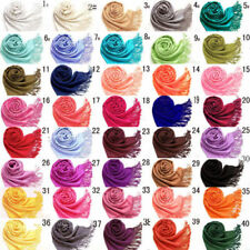 Pashmina Patternless Shawls/Wraps Scarves and Wraps for Women