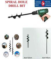 Garden Spiral Hole Drill Planter Bit For Planting Garden Hole Digger Tool CA