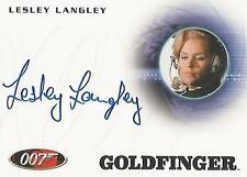 "James Bond 50th Anniversary - A176 Lesley Langley ""Circus Pilot"" Autograph Card"