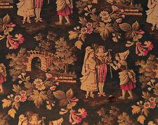 "Antique 1870 ""The Wedding""  Toile Fabric"