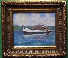 Waverley Rothesay Bound: original pintura al óleo impresionista por David Baxter