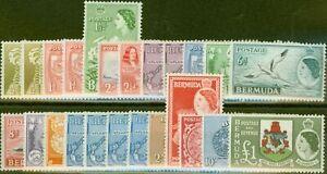 Bermuda 1953-62 Extended set of 24 SG135-150 Fine Lightly Mtd Mint All Types ...