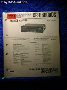 Sony Service Manual XR U800RDS Car Stereo (#1333)