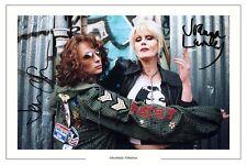 JOANNA LUMLEY & JENNIFER SAUNDERS ABSOLUTELY FABULOUS SIGNED PHOTO PRINT