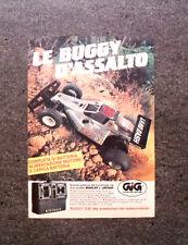 K997-Advertising Pubblicità-1986- BUGGY D'ASSALTO , GIG BUGGY