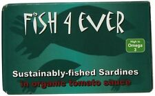 Fish 4 Ever MSC Whole Sardines in Organic Tomato Sauce 120g (pack of 10)