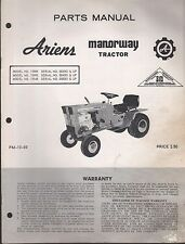 ARIENS MODEL 13989,13990,13948 MANORWAY TRACTOR PARTS MANUAL PM-10-69  (772)