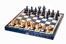 Wooden Chess set handmade (board as the case) with individual compartments