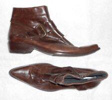 ZOKKA low boots zippés cuir marron P 41 TBE