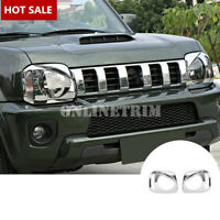 ABS Chrome Bird Style Front Headlight Trim Cover 2pcs For Suzuki Jimny 2007-2017