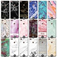 Personalized Marble Phone Case/Cover for ZTE Smartphone Initials/Name/Customize