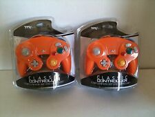 2 LOT NEW Orange Controller for Nintendo Gamecube System Console Wii Control Pad