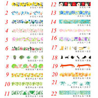 Pop DIY Floral Washi Sticker Decor Roll Paper Masking Adhesive Tape Crafts Gifts