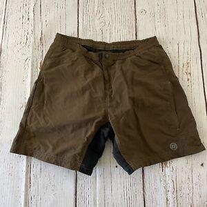 Novara Men's Padded Cycling Shorts Brown Size Large