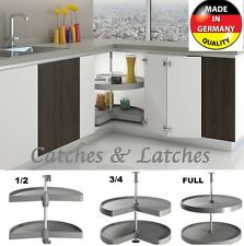 KITCHEN CORNER UNIT CAROUSEL SHELF TRAYS PULL OUT 1/2, 3/4, FULL SOLID BASE REVO