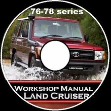 TOYOTA Land cruiser 76 78 79 Series VDJ DIESEL V8 Workshop  Repair Manual CD