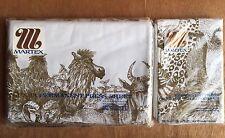 """Vintage Martex Luxor SAFARI QUEEN FLAT 90x115"""" percale Sheet & 2 Std Pillowcases"""