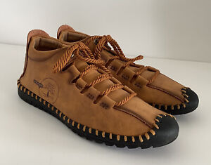 MOCCASINS SOFT COMFY SHOES HAND STITCHED UK7 EU40 MICROFIBRE SYNTHETIC  LEATHER
