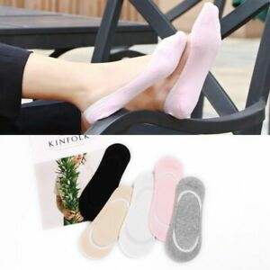 Womens Cotton Sock No Show Boat Socks Ankle Low Pairs Solid Summer Invisible Sox