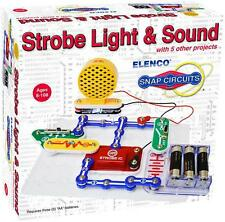 ELENCO SNAP CIRCUITS SCP-14 STROBE LIGHT AND SOUND KIT-14 PROJECTS Ages 8+