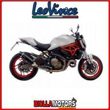 scarico leovince ducati monster 821 2014-2016 lv one evo carbonio/carbonio 14134