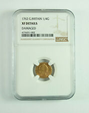 New Listing1762 Great Britain | 1/4 Guinea | gold | Xf Details
