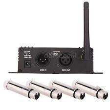 Wireless DMX Controller Transmitter Receiver + 4 Female XLR Receiver EU P0W0