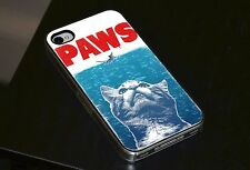 Paws Jaws Cat Funny Gift Phone Case Fits iPhone 4 4s 5 5s 5c 6