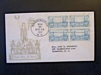 US SC# 788 FDC / Block of 4 / Dyer Cachet - Z5287