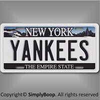 New York Yankees Aluminum License Plate Tag Baseball 1