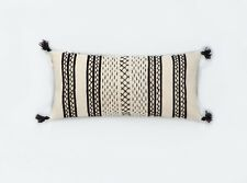 Alternanza PomPom- Embroidered Hand-Woven Organic Wool Pillow Cover Ethnic
