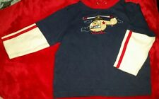 baby Ur It 18 months cotton long sleeved shirt. bear in helicopter. blue white