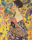 Print - Lady with Fan Gustav Klimt