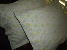 FIELDCREST PERFECTION PINK BLUE& GREEN CALICO FLORAL (PAIR) KING PILLOWCASES