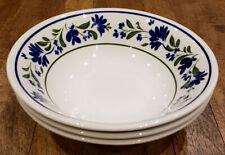 * Set of 3 * Churchill Blue Flowers Floral SALZBURG -- Cereal Bowls Bowl Set