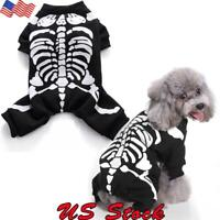 Halloween Pet Dog Clothes Costume Horror Skeleton Clothes Chihuahua Clothing