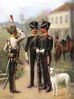 Painting Polish Army Chelminski 5th Chasseurs Regiment Warsaw Canvas Art Print