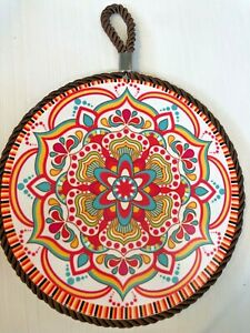 Moroccan Style Ceramic Hot Plate Trivet Wall Hanging Home Kitchen Decor GLOBAL