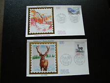 FRANCE - 2 envelopes 1st day 1988 (cirque gavarine/deer) (cy78) french