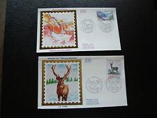 FRANCE - 2 enveloppes 1er jour 1988 (cirque gavarine/cerf) (cy78) french