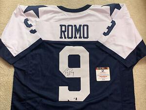 TONY ROMO Dallas Cowboys Signed Jersey Auto Coa